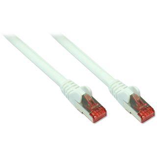 (€0,99*/1m) 10.00m Good Connections Cat. 6a Patchkabel S/FTP PiMF RJ45 Stecker auf RJ45 Stecker Weiß halogenfrei