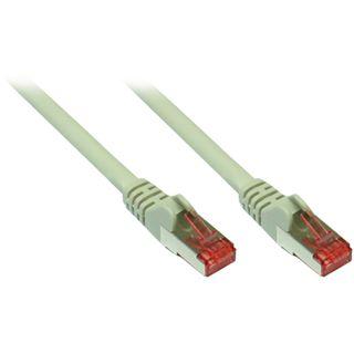 (€0,79*/1m) 15.00m Good Connections Cat. 6a Patchkabel S/FTP PiMF RJ45 Stecker auf RJ45 Stecker Grau halogenfrei