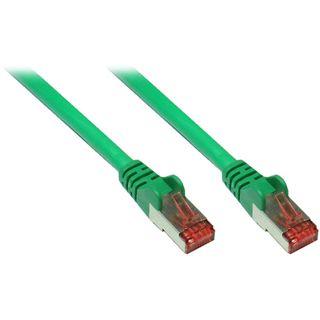 (€0,79*/1m) 15.00m Good Connections Cat. 6a Patchkabel S/FTP PiMF RJ45 Stecker auf RJ45 Stecker Grün halogenfrei