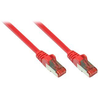 (€0,73*/1m) 30.00m Good Connections Cat. 6a Patchkabel S/FTP PiMF RJ45 Stecker auf RJ45 Stecker Rot halogenfrei