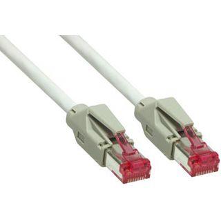 (€5,93*/1m) 1.50m Good Connections Cat. 6 Patchkabel S/FTP PiMF RJ45 Stecker auf RJ45 Stecker Grau halogenfrei