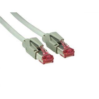10.00m Good Connections Cat. 6 Patchkabel S/FTP PiMF RJ45 Stecker auf RJ45 Stecker Grau halogenfrei