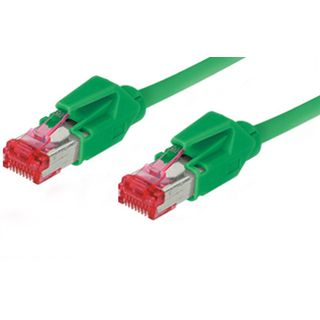 30.00m Good Connections Cat. 6 Patchkabel S/FTP PiMF RJ45 Stecker auf RJ45 Stecker Grün halogenfrei