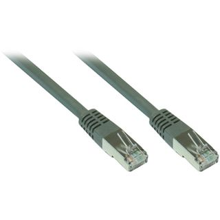 0.50m Good Connections Cat. 7 Patchkabel S/FTP PiMF 600MHz RJ45 Stecker auf RJ45 Stecker Grau