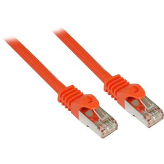 (€1,58*/1m) 5.00m Good Connections Cat. 7 Patchkabel S/FTP PiMF 600MHz RJ45 Stecker auf RJ45 Stecker Orange