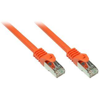 7.50m Good Connections Cat. 7 Patchkabel S/FTP PiMF 600MHz RJ45 Stecker auf RJ45 Stecker Orange