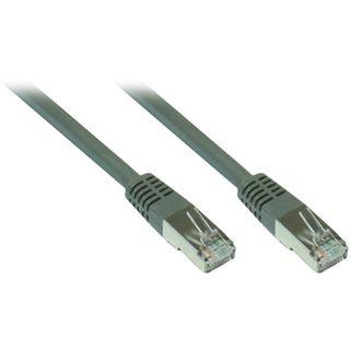 15.00m Good Connections Cat. 7 Patchkabel S/FTP PiMF 600MHz RJ45 Stecker auf RJ45 Stecker Grau