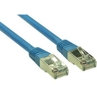 (€13,00*/1m) 0.30m Good Connections Cat. 5e Patchkabel S/FTP RJ45 Stecker auf RJ45 Stecker Blau