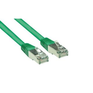 (€0,69*/1m) 10.00m Good Connections Cat. 5e Patchkabel S/FTP RJ45 Stecker auf RJ45 Stecker Grün