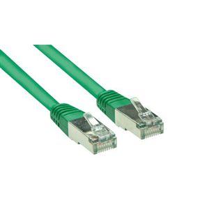 (€0,33*/1m) 30.00m Good Connections Cat. 5e Patchkabel S/FTP RJ45 Stecker auf RJ45 Stecker Grün
