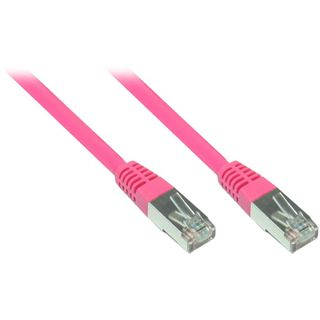 (€1,30*/1m) 3.00m Good Connections Cat. 5e Patchkabel S/FTP RJ45 Stecker auf RJ45 Stecker Pink
