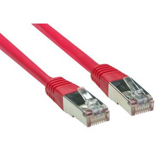(€13,00*/1m) 0.30m Good Connections Cat. 5e Patchkabel S/FTP RJ45 Stecker auf RJ45 Stecker Rot