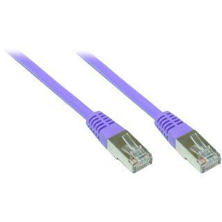 (€7,80*/1m) 0.50m Good Connections Cat. 5e Patchkabel S/FTP RJ45 Stecker auf RJ45 Stecker Violett