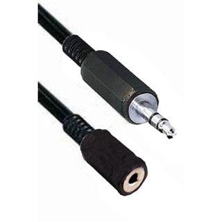 0.20m Good Connections Audio Verlängerungskabel Standard 3.5mm Klinke Stecker Mono auf 3.5mm Klinke Buchse Stereo Schwarz