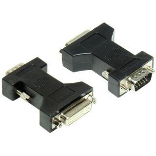 Good Connections Adapter DVI 24+5 Buchse auf VGA 15pol Stecker Schwarz