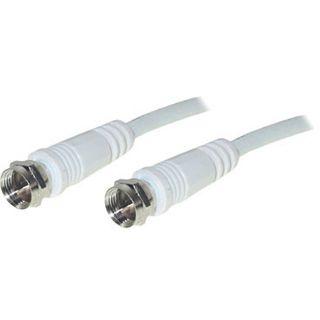 5.00m Good Connections SAT Antennenkabel F-Stecker auf F-Stecker Weiß doppelt geschirmt