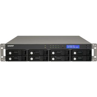 "QNAP Turbostation TS-859U-RP+ NAS System für 8x2,5"" oder 8x3,5"" SATA II HDD Schwarz"