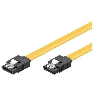 (€7,80*/1m) 0.50m Good Connections SATA 6Gb/s Anschlusskabel SATA Stecker auf SATA Stecker Gelb mit Arretierung