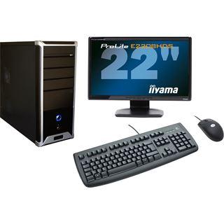 AMD Athlon II X2 220 2048MB 500GB DVD-RW onBoard Grafik Maus Tastatur TFT 22 W7HP