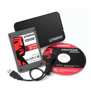 "128GB Kingston V Series 2.5"" (6.4cm) SATA 3Gb/s MLC asynchron (SV100S2N/128G)"