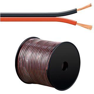 100.00m Good Connections Audio Lautsprecherkabel Standard ohne Stecker auf Rot/Schwarz 2x 4,0mm²
