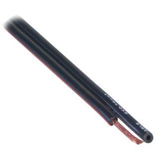 100.00m Good Connections Audio Lautsprecherkabel Standard ohne Stecker auf Schwarz auf Spule/2x 0,75mm²
