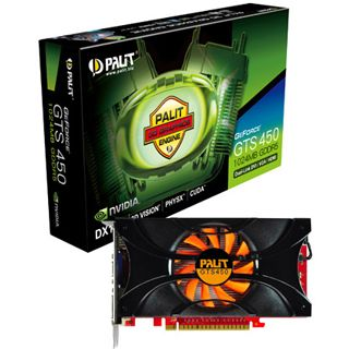 1024MB Palit GeForce GTS 450 Rev. 2 Aktiv PCIe 2.0 x16 (Retail)