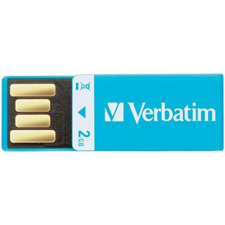 2 GB Verbatim Clip-it USB Drive blau USB 2.0