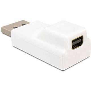 DeLock Adapter Display Port Stecker-> Display Port mini Bu
