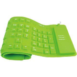 LogiLink Flexible Waterproof Keyboard PS/2 & USB Deutsch gruen (kabelgebunden)
