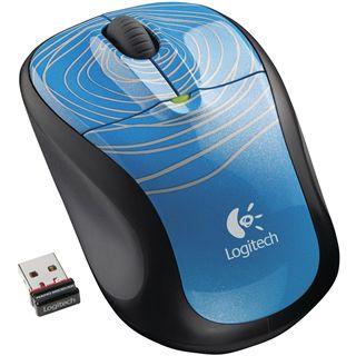 Logitech M305 Wireless Optische USB Maus Blue Swirl