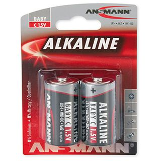ANSMANN Alkaline C / Baby Alkaline 1.5 V 2er Pack