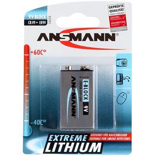 ANSMANN Blockbatterie 9V / E Block Lithium 9.0 V 1er Pack