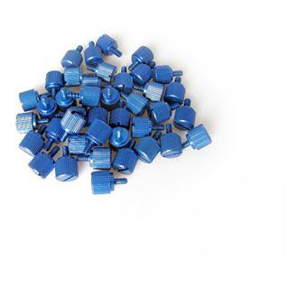 Dimas Tech 20x M3 + 20x 6-32er blau Rändelschrauben für Gehäuse (BT079)