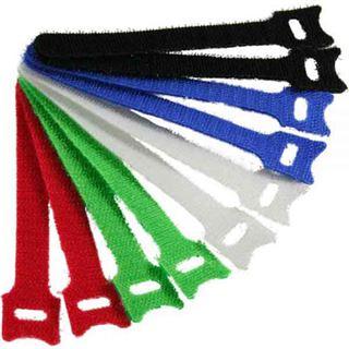 InLine Kabelbinder 12x330mm, Klett-Verschluss, 10er, 5 versch. Farben