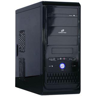 Cooltek K2 Full-Black Rev.C Midi Tower ohne Netzteil schwarz