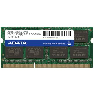 1GB ADATA Value DDR3-1333 SO-DIMM CL6 Single