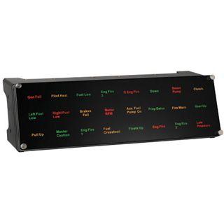 Saitek Pro Flight Backlit Information Panel USB schwarz PC
