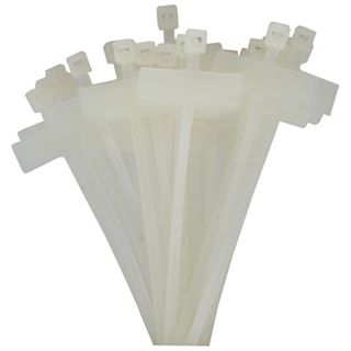 Kabelbinder, Länge 100mm, Breite 2,5mm, 100 Stk, Markierfeld quer 15x30mm