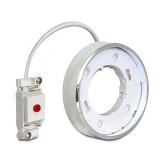 Delock LED-Fassung GX53 Typ F Aufbau rund silber
