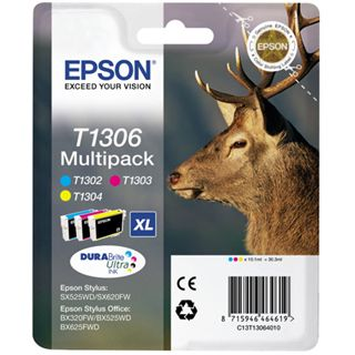 Epson Tinte C13T13064030 cyan, magenta, gelb