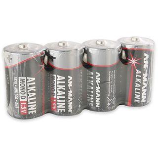 ANSMANN Alkaline D / Mono Alkaline 1300 mAh 4er Pack