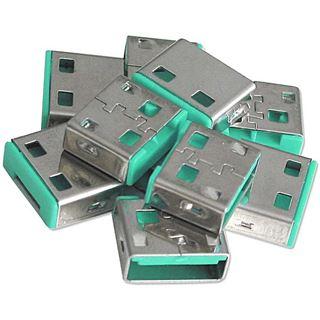 Lindy USB Port Schloss (10 Stück) OHNE Schlüssel: Grün