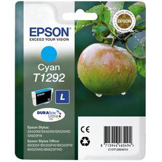 Epson T1292 Tintenpatrone cyan hohe Kapazität 7ml 1er-Pack DURABrite Ultra Ink Retail Pack (untagged) RF Tag