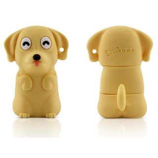 4 GB Bone Dog Driver gelb USB 2.0