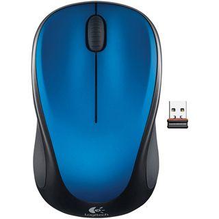 Logitech M235 Wireless Optische USB Maus Steel blue
