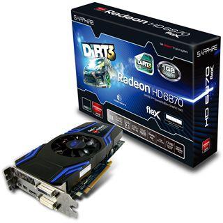1024MB Sapphire Radeon HD 6870 Flex HD Dirt3 Aktiv PCIe 2.0 x16 (Retail)
