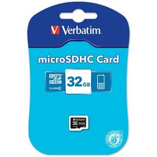 32 GB Verbatim Standard microSDHC Class 4 Bulk