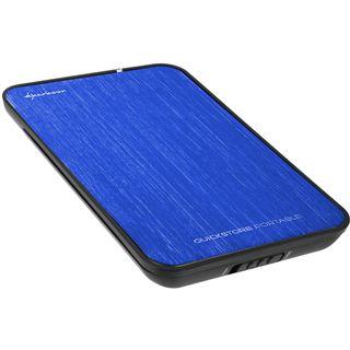 "500GB Sharkoon QuickStore Portable 4044951011841 2.5"" (6.4cm) USB 2.0 blau"