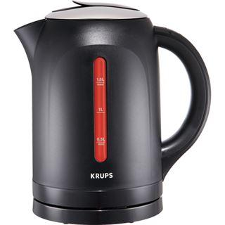 Krups BW 4108 Edelstahl-Schwarz - Wasserkocher mit Display,